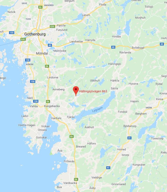 A-Kvalite, karta, Hällingsjövägen 863